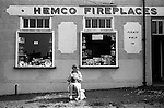 Local shop and shopkeeper.  South Elmsall near  South Kirkby Colliery, Yorkshire England. Coal Miners story 1979.