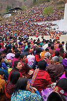 Paro Festival, Bhutan..Durda Chham, dance of the Lord of cremation and the dance of wrathful deities.
