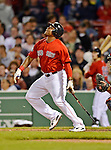 8 June 2012: Boston Red Sox outfielder Marlon Byrd in action against the Washington Nationals at Fenway Park in Boston, MA. The Nationals defeated the Red Sox 7-4 in the opening game of their 3-game series. Mandatory Credit: Ed Wolfstein Photo