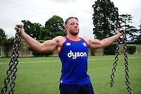 Max Lahiff of Bath Rugby in action during a Bath Rugby photoshoot on June 21, 2016 at Farleigh House in Bath, England. Photo by: Patrick Khachfe / Onside Images