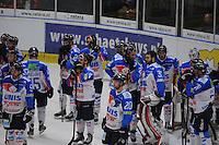 IJSHOCKEY: EINDHOVEN: 15-01-2014, Bekerfinale UNIS Flyers- Tilburg trappers, uitslag 1-2, treurende verliezers, coach Chris Eimers, ©foto Martin de Jong