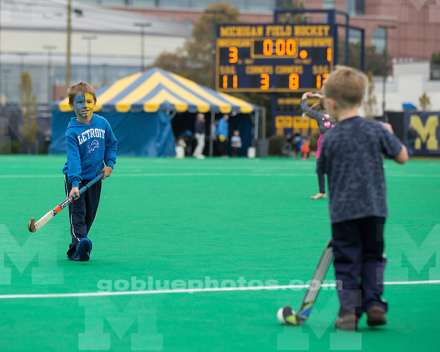 The University of Michigan field hockey team beat No. 18 Ohio State University, 3-1, at Ocker Field in Ann Arbor, Mich., on October 14, 2012.