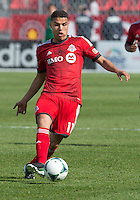 18 May 2013: Toronto FC midfielder Luis Silva #11in action during an MLS game between the Columbus Crew and Toronto FC at BMO Field in Toronto, Ontario Canada..The Columbus Crew won 1-0...