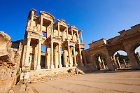 Photo of The library of Celsus. Images of the Roman ruins of Ephasus, Turkey. Stock Picture & Photo art prints 2