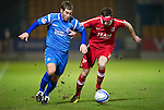 St Johnstone v Aberdeen....02.03.11 .Peter MacDonald and Rory McArdle.Picture by Graeme Hart..Copyright Perthshire Picture Agency.Tel: 01738 623350  Mobile: 07990 594431