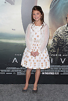 "Westwood, CA - NOVEMBER 06: Abigail Pniowsky at Premiere Of Paramount Pictures' ""Arrival"" At Regency Village Theatre, California on November 06, 2016. Credit: Faye Sadou/MediaPunch"