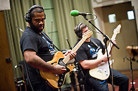Kirk Fletcher and band at BBC's Maida Vale Studios 31st October 2014