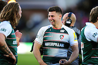 Ben Youngs of Leicester Tigers is all smiles after the match. Aviva Premiership match, between Northampton Saints and Leicester Tigers on April 16, 2016 at Franklin's Gardens in Northampton, England. Photo by: Patrick Khachfe / JMP