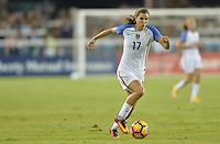 San Jose, CA - November 10, 2016: The U.S. Women's National team go up 5-1 over Romania during an international friendly game at Avaya Stadium.