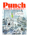 """Dad - the computer was right. It is spring."" (Punch Spring Number, 1983, front cover)"