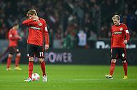 FUSSBALL   1. BUNDESLIGA   SAISON 2012/2013    20. SPIELTAG Bayer 04 Leverkusen - Borussia Dortmund                  03.02.2013 Stefan Kiessling und Andre Schuerrle (v.l., beide Bayer 04 Leverkusen) sind nach dem Abpfiff enttaeuscht
