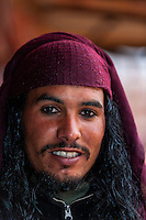 A Bedouin man, Petra archaeological site (a UNESCO World Heritage site), Jordan.