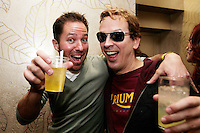 28 February 2009:  KROQ radio DJ / Love Line host poses with player Phil Laak with drinks in hand at the 7th Annual WPT World Poker Tour Invitational at the Commerce Casino in Los Angeles, CA. Players compete for poker glory and a  piece of the $200,000 prize pool. Celebrity and Pro card players in action.