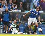 Andy Little gets away from Joe Ledley