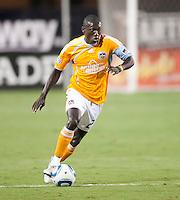 SANTA CLARA, CA – OCTOBER 16: Houston Dynamo forward Dominic Oduro (23)during a soccer match at Buck Shaw Stadium, October 16, 2010 in Santa Clara, California. Final score San Jose Earthquakes 0, Houston Dynamo 1.