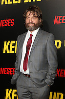 "LOS ANGELES, CA - OCTOBER 8: Zach Galifianakis at the ""Keeping Up with the Joneses"" Red Carpet Event at Twentieth Century Fox Studios in Los Angeles, California on October 8, 2016. Credit: David Edwards/MediaPunch"
