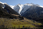 Countryside in the Alps, Munster, Switzerland,