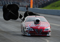 Jun. 19, 2011; Bristol, TN, USA: NHRA pro stock driver Ronnie Humphrey during eliminations at the Thunder Valley Nationals at Bristol Dragway. Mandatory Credit: Mark J. Rebilas-