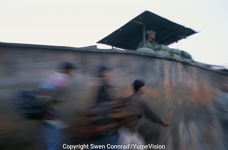 Militarization and Curfew in Kathmandu city