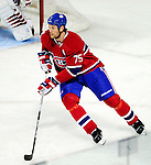 6 February 2010: Montreal Canadiens' defenseman Hal Gill in action against the Pittsburgh Penguins at the Bell Centre in Montreal, Quebec, Canada. The Canadiens defeated the Penguins 5-3. Mandatory Credit: Ed Wolfstein Photo