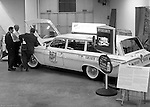 Pittsburgh PA:  View of the Atlantic Refining Company's test car at the 1962 Pittsburgh Auto Show. The objective was to sign up more Atlantic Refining Dealerships in the Pittsburgh area.  In 1966, the company would merge with Richfield Oil company to become the successful oil company known as Atlantic Richfield Company (ARCO).