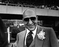 Actor Telly Savalas at the races at Golden Gate Fields in Albany, Ca 1977.(photo by Ron Riesterer)