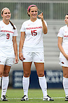 07 September 2014: Arkansas' Jessi Hartzler. The University of North Carolina Tar Heels played the University of Arkansas Razorbacks at Koskinen Stadium in Durham, North Carolina in a 2014 NCAA Division I Women's Soccer match. UNC won the game 2-1.