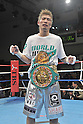Yota Sato (JPN),.MARCH 27, 2012 - Boxing : Yota Sato of Japan celebrates after defeating Suriyan Sor Rungvisai of Thailand durng the WBC super flyweight title bout at Korakuen Hall in Tokyo, Japan..(Photo by Hiroaki Yamaguchi/AFLO)  ....