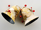 Traditional hand made Christmas bells decorations