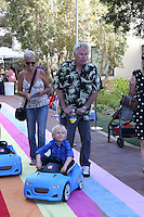 CULVER CITY, CA - SEPTEMBER 24: Gary Busey, Luke Busey attends the Step2 & Favored.by Present The 5th Annual Red Carpet Safety Awareness Event at Sony Pictures Studios on September 24, 2016 in Culver City, California. (Credit: Parisa Afsahi/MediaPunch).