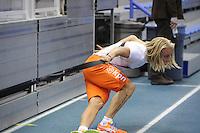 SCHAATSEN: CALGARY: Olympic Oval, 09-11-2013, Essent ISU World Cup, Koen Verweij (NED), wedstrijdvoorbereiding, ©foto Martin de Jong