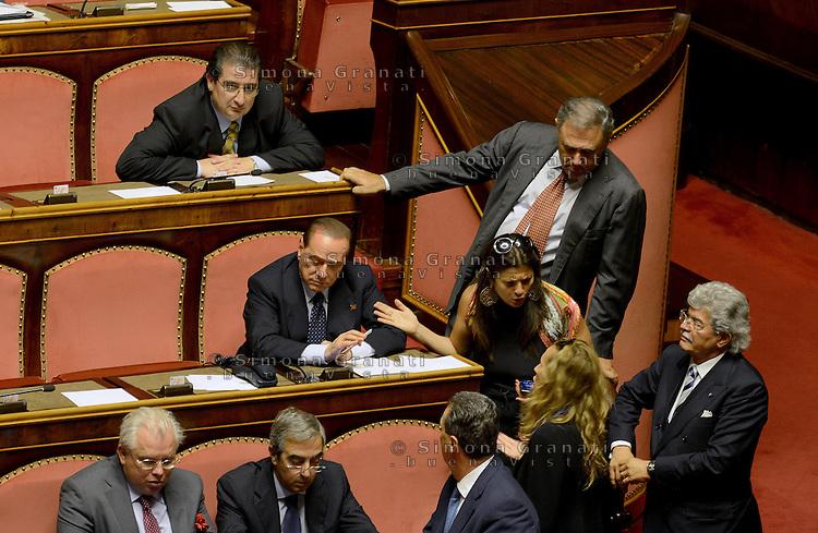 Roma, 2 Ottobre 2013<br /> Senato <br /> Silvio Berlusconi durante il dibattito per la Fiducia
