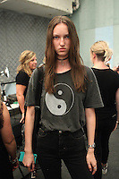 NEW YORK, NY - SEPTEMBER 10: Liza Ostanina Backstage at Academy of Art University Spring 2016 Collections at The Arc, Skylight at Moynihan Station on September 10, 2016 in New York City. Credit: DC/Media Punch