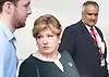 Andrew Marr Show <br /> departures <br /> BBC, Broadcasting House, London, Great Britain <br /> 9th April 2017 <br /> <br /> Emily Thornberry<br /> Shadow Foreign Secretary<br /> <br /> <br /> <br /> <br /> <br /> <br /> Photograph by Elliott Franks <br /> Image licensed to Elliott Franks Photography Services