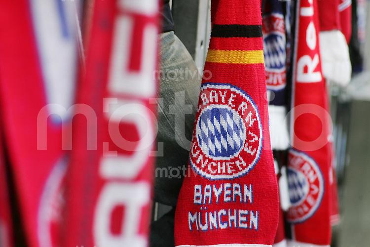 Fussball 1. Bundesliga Saison 2006/2007    3. Spieltag           Bayern Muenchen - 1.FC Nuernberg Fans des FC Bayern Muenchen bekennen sich zu ihrem Club Einzelaktion am Ball.