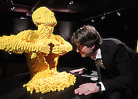 11/04/14 (NO FEE PICS) Work of US artist Nathan Sawaya at The Art of the Brickcoming to The Ambassador Theatre.Exhibition featuring art created out of LEGO®bricks on show in Dublin running from 12th April 2014 for a limited period. Pic Stephen Collins/Collins Photos