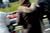 Stephen Jelly in his 1st year of BTCC, racing at Rockingham in the 2008 BTCC championship