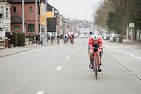 Jasper Stuyven (BEL/Trek-Segafredo) leading the breakaway group in the last local lap<br /> <br /> 69th Kuurne-Brussel-Kuurne 2017 (1.HC)