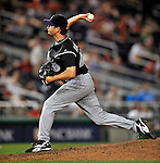 16 August 2008: Colorado Rockies' relief pitcher Jason Grilli on the mound against the Washington Nationals at Nationals Park in Washington, DC.  The Rockies defeated the Nationals 13-6, handing the last place Nationals their 9th consecutive loss. ..Mandatory Photo Credit: Ed Wolfstein Photo