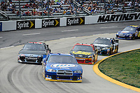 30 March - 1 April, 2012, Martinsville, Virginia USA.Brad Keselowski,Clint Bowyer, Kasey Kahne.(c)2012, Scott LePage.LAT Photo USA