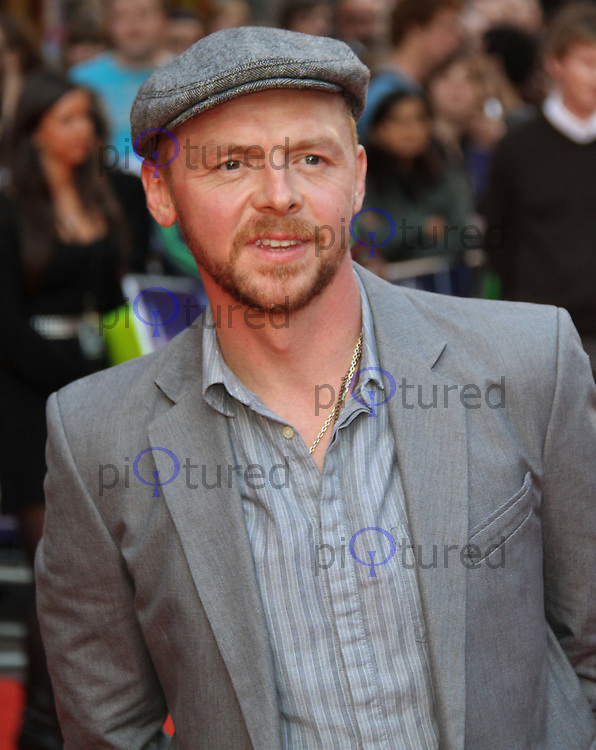 Simon Pegg Attack The Block UK Premiere, Vue Cinema, Leicester Square, London, UK, 04 May 2011:  Contact: Rich@Piqtured.com +44(0)7941 079620 (Picture by Richard Goldschmidt)
