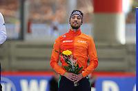 SPEED SKATING: INZELL: 04-12-2015, Max Aicher Arena, ISU World Cup, Podium 500m Men, B-division, Kjeld Nuis (NED), ©foto Martin de Jong