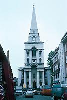 Nicholas Hawksmoor: Christ Church, Spitafields 1714-29. Commercial Street, Spitafields Market. Photo '05.