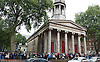 Andy Burnham Labour Leadership campaign rally at St Pancras Parish Church, Euston Rd, London, Great Britain <br /> <br /> 24th August 2015<br /> <br /> The crowds outside the church in the rain waiting to go in <br /> <br /> Member of Parliament for Leigh since 2001 and the Shadow Secretary of State for Health since 2011<br /> <br /> Photograph by Elliott Franks <br /> <br /> Image licensed to Elliott Franks Photography Services