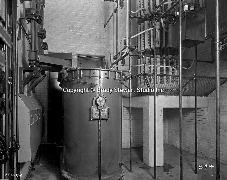 Pittsburgh PA:  View of a General Electric transformer driving the Swindell-Dressler Electric Furnace and other Equipment - 1931.  Swindell Dressler International Company was based in Pittsburgh, Pennsylvania. The company was founded by Phillip Dressler in 1915 as American Dressler Tunnel Kilns, Inc.  In 1930, American Dressler Tunnel Kilns, Inc. merged with William Swindell and Brothers to form Swindell-Dressler Corporation. The Swindell brothers designed, built, and repaired metallurgical furnaces for the steel and aluminum industries. The new company offered extensive heat-treating capabilities to heavy industry worldwide.