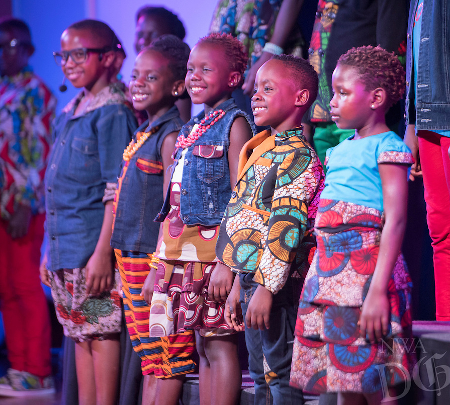 NWA Democrat-Gazette/J.T. WAMPLER Members of the Watoto children's choir from Uganda perform Thursday Feb. 25, 2016 at the United Lutheran Church of Bella Vista. Children in the choir have lost one or both parents to the AIDS epidemic or war.
