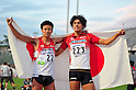 (L to R) Yuta Imazeki (JPN), Takatoshi Abe (JPN),JULY 9, 2011 - Athletics :The 19th Asian Athletics Championships Hyogo/Kobe, Men's 400mH Final at Kobe Sports Park Stadium, Hyogo ,Japan. (Photo by Jun Tsukida/AFLO SPORT) [0003]