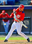 7 March 2011: Washington Nationals' outfielder Matt Stairs in action during a Spring Training game against the Houston Astros at Space Coast Stadium in Viera, Florida. The Nationals defeated the Astros 14-9 in Grapefruit League action. Mandatory Credit: Ed Wolfstein Photo