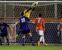 The number 24 ranked Furman Paladins took on the number 20 ranked Clemson Tigers in an inter-conference game at Clemson's Riggs Field.  Furman defeated Clemson 2-1.  Sven Lissek (1), Michael Gandier (18), Manolo Sanchez (8)