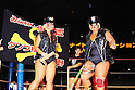 (L-R) Bull Nakano, Dump Matsumoto, AUGUST 12, 1985 - Pro Wrestling : All Japan Women's Pro-Wrestling event at Nippon Budokan in Tokyo, Japan. (Photo by Yukio Hiraku/AFLO)